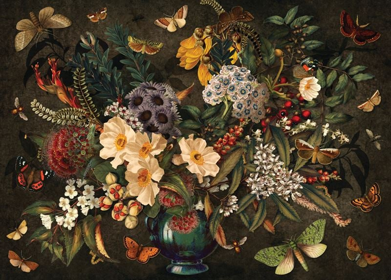 Native Flora & Fauna - 1000 piece jigsaw puzzle .