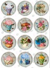 Shabby Chic Flowers and Tea Edible Designs