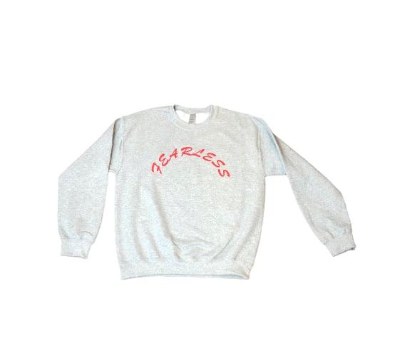 "Gray/Red ""Fearless"" Sweatshirt"