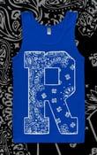 "Image of Renegade ""Bandana print"" Singlet (BLUE)"