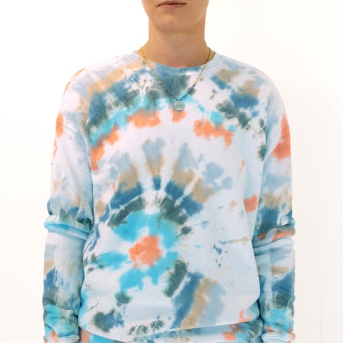 Image of Multicolored Hand-Dyed Sweatshirt by Kria