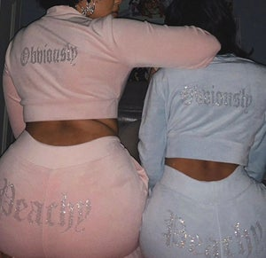 "Image of ""Peachy"" Velour Jogger Set"