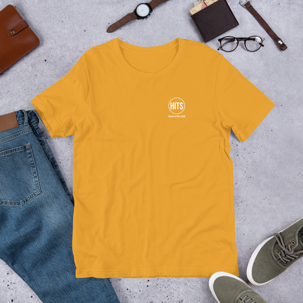 Image of Limited Edition: HITS logo tee in mustard