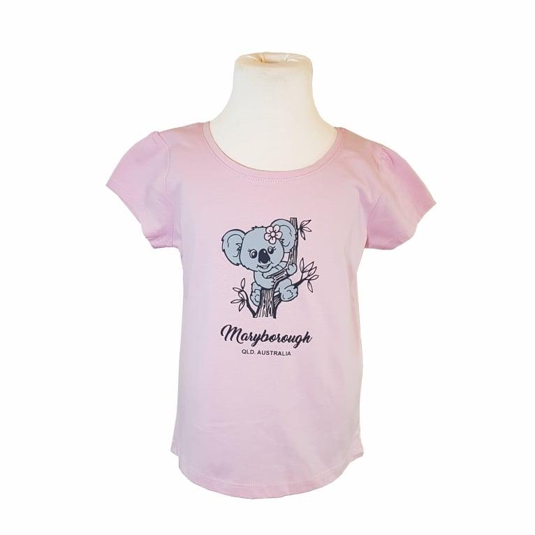 Image of Kids Maryborough (QLD) Koala T-shirt - (Pink Size 6 Only)