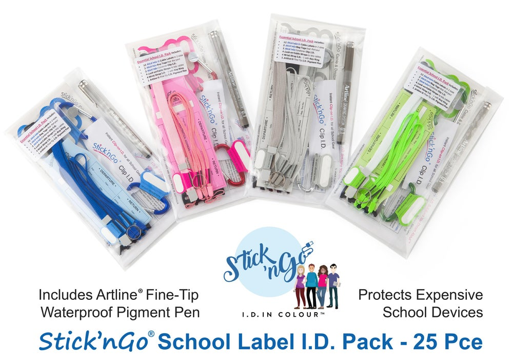 Image of Kids' School Name Label I.D. Pack - 25 items to protect Gear & Gadgets. *FREE SHIPPING*