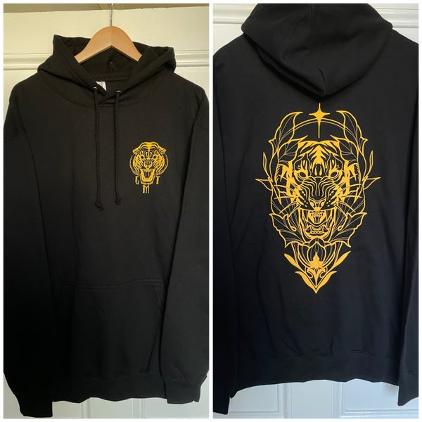 Image of Tiger Head Hoodie Yellow