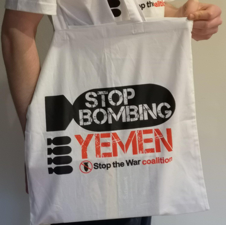 Image of Stop Bombing Yemen - Tote Bag