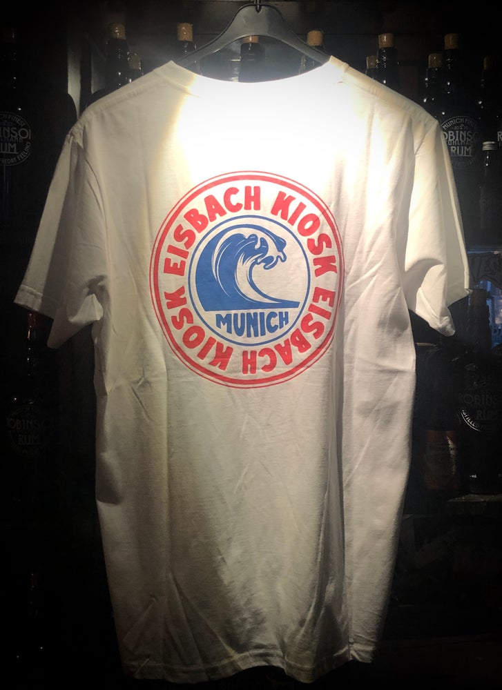 "Image of Eisbach Kiosk ""Wave"" T-Shirt  -weiß-"