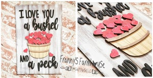 Image of Valentine's Inspired Faux Shiplap 3D Sign