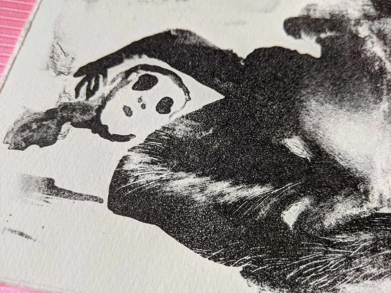 "Image of lithography ""the werewolf ฅ(⓪益⓪)ฅ"""