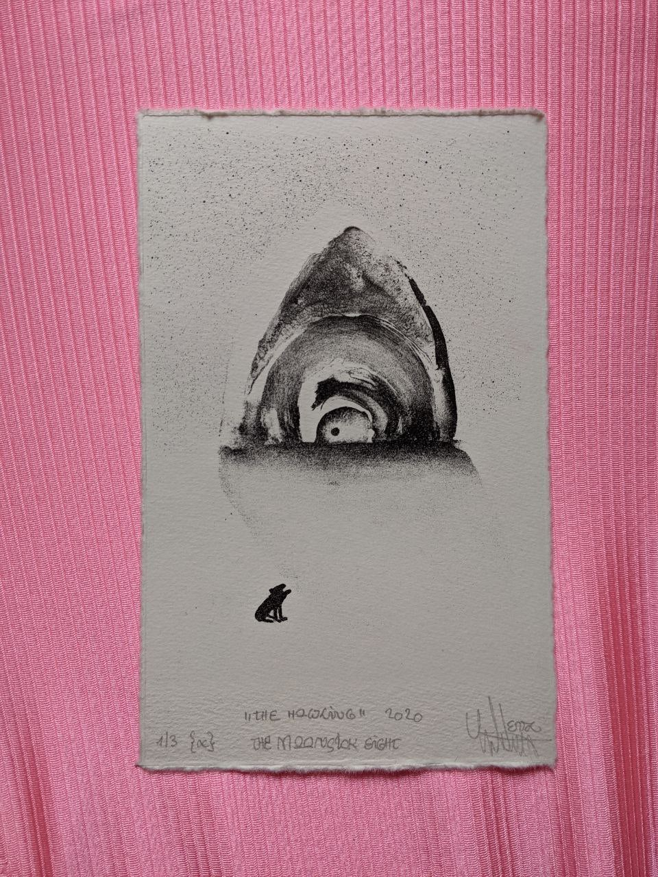 "Image of lithography ""the howling ЁЯМмя╕П """
