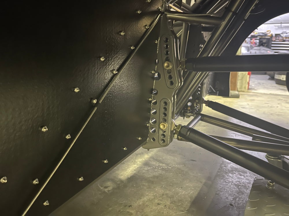 "Extreme Pro Series 4-Link Chassis Brackets, 4130 - 15"" Notch Spread with Upper & Lower Doubler Plate"