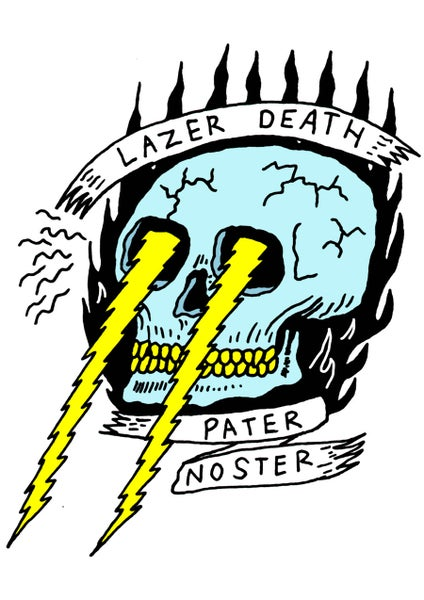 Image of Lazer Death A4 print signed
