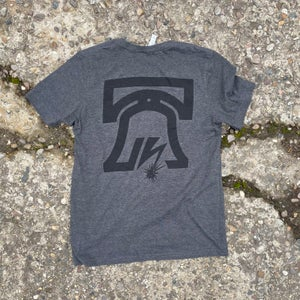 Image of Heather Grey Liberty Bell Soft Tee