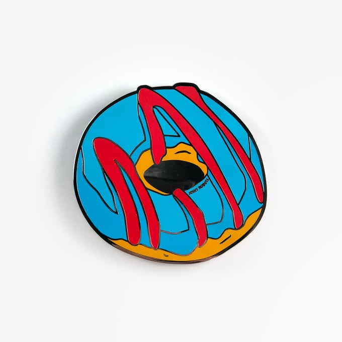 Image of Mmm Donuts grill badge