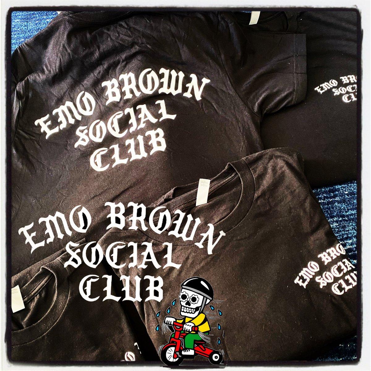 Emo Brown Social Club T Shirt