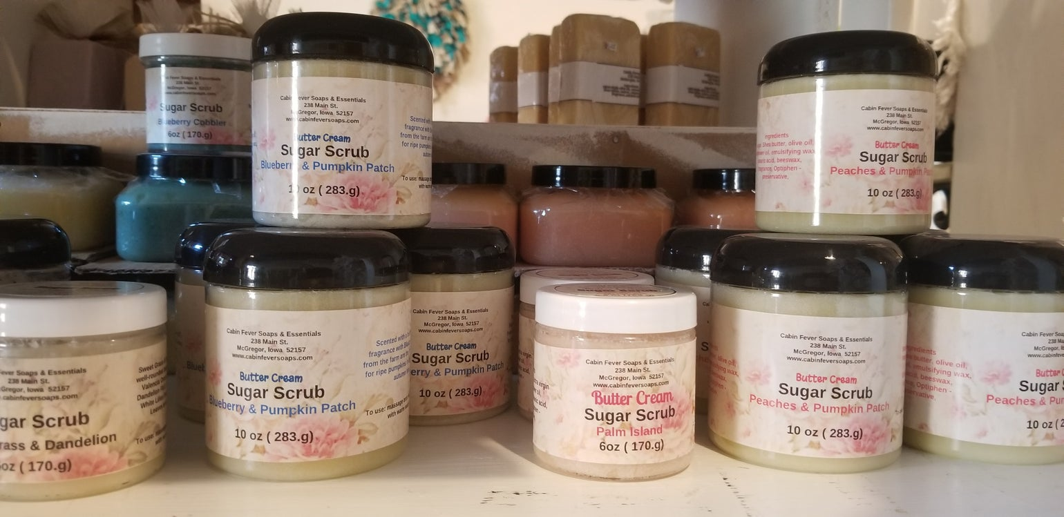 Image of Butter Cream Sugar Scrubs -6 oz  $7.99