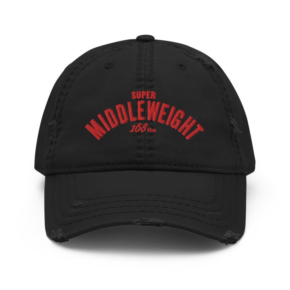 Super Middleweight Distressed Dad Hat. (3 colors)