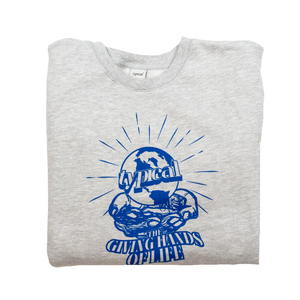 Image of The Giving Hands Crewneck (Grey Heather)