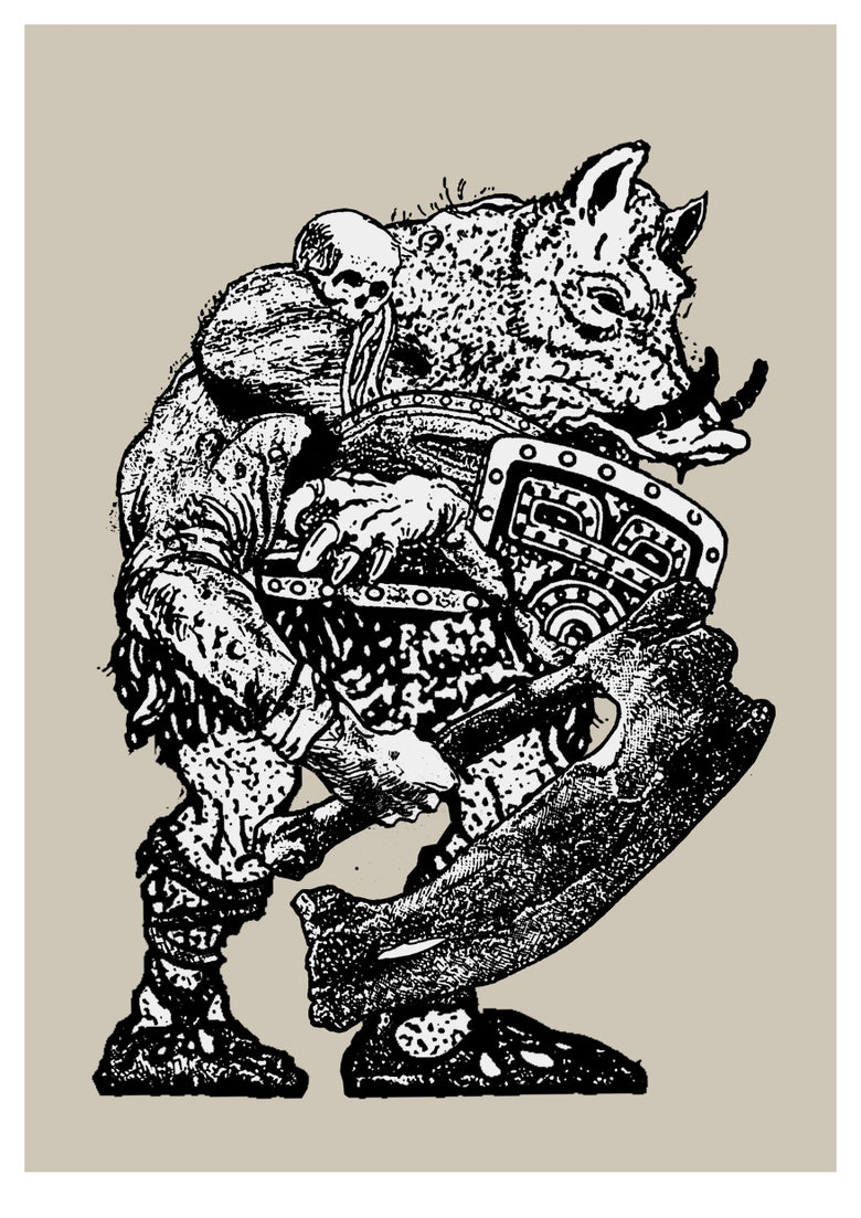 Image of WarHog —  Giclée art-print
