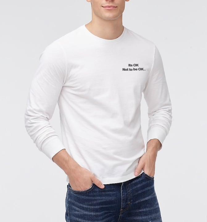 Image of It's ok White Long Sleeve