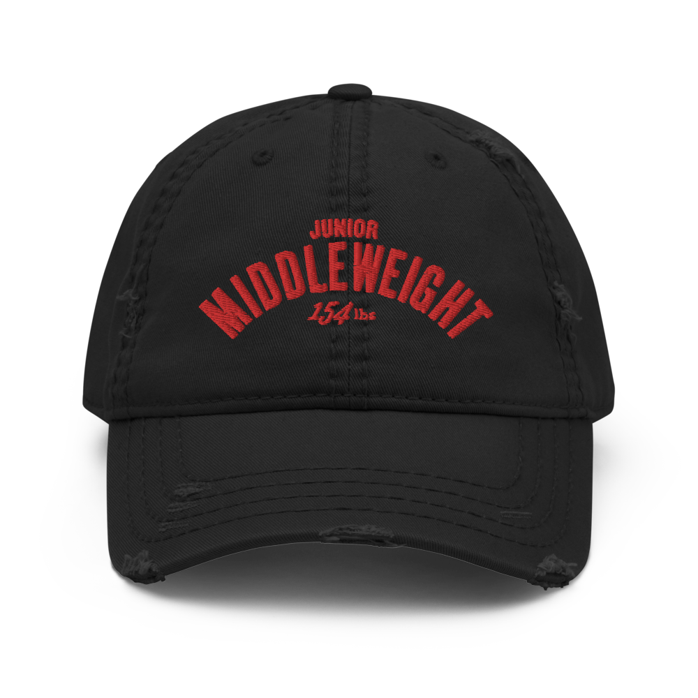 Junior Middleweight Distressed Dad Hat. (3 colors)