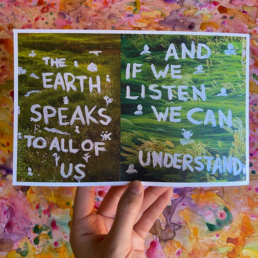 """Image of """"The Earth Speaks To All Of Us"""" Print"""