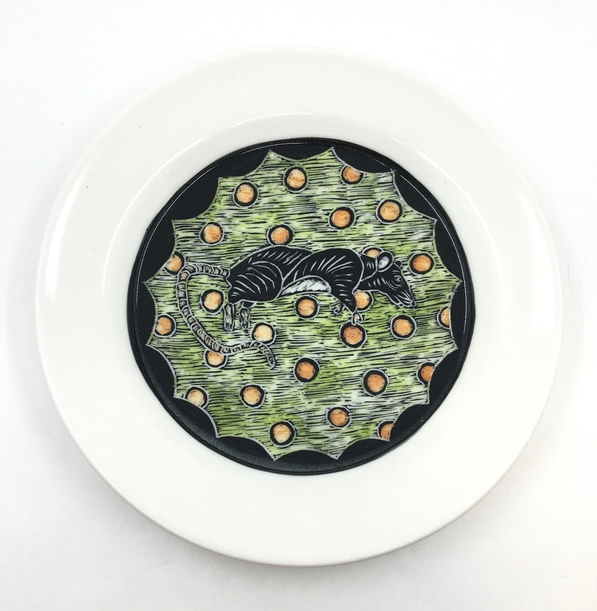 **35% Off** Rat Plate by Rebecca Grant