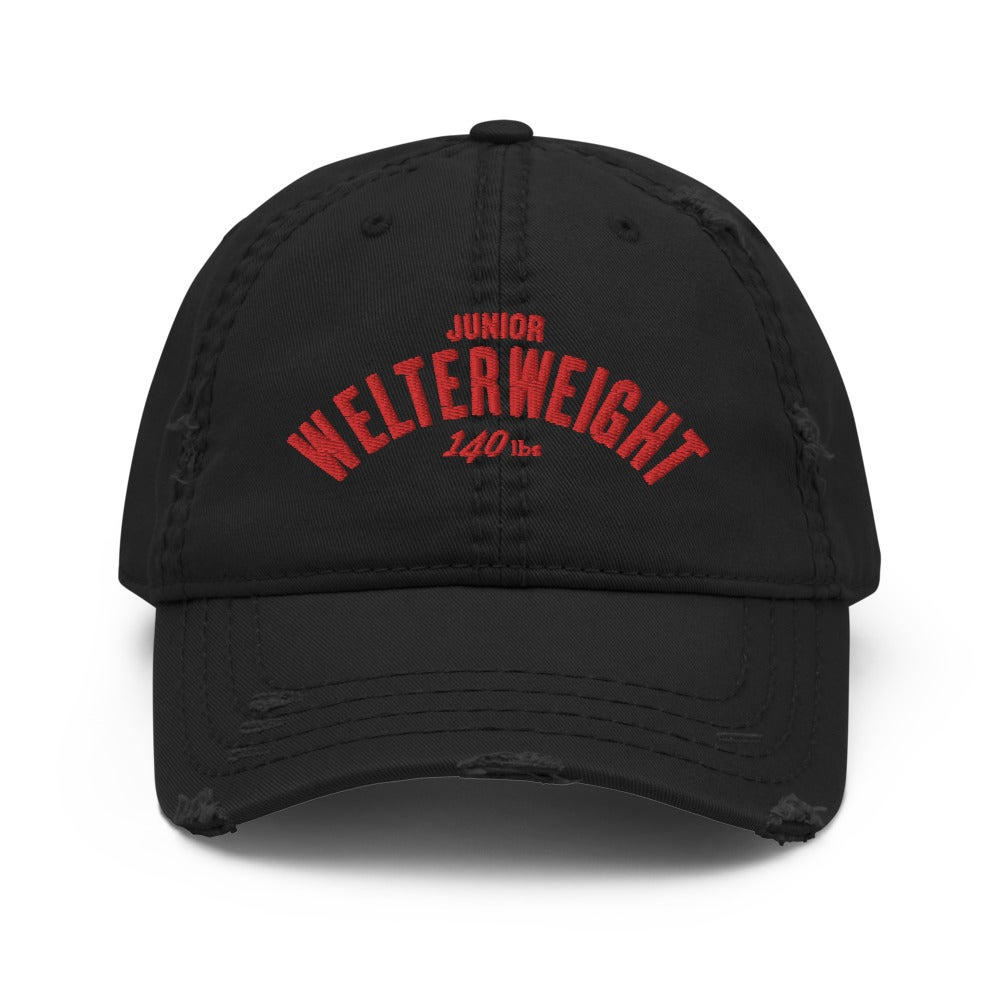 Junior Welterweight Distressed Dad Hat. (3 colors)