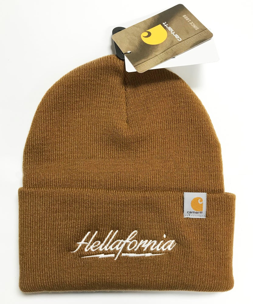 Image of Bolt Carhartt Brown Beanie