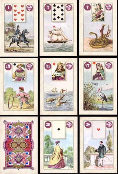 Image of Purple Dragon Dondorf Lenormand