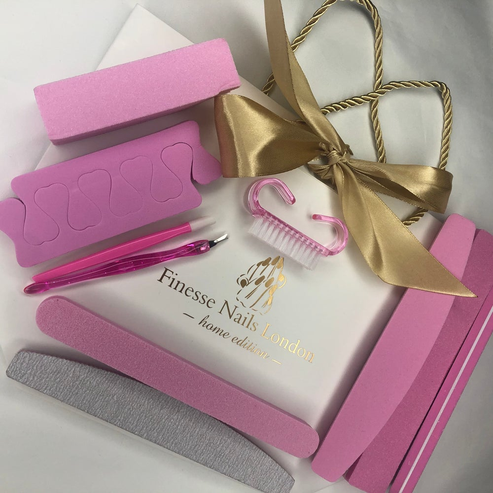 Image of Nail extension removal & shellac removal files and tools