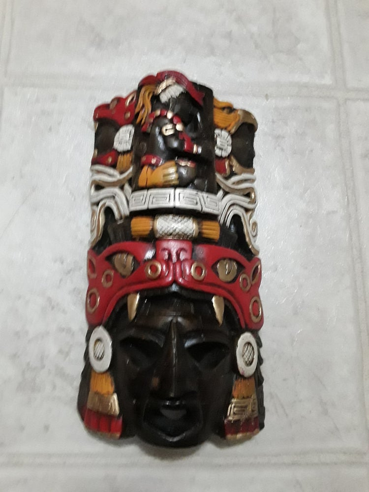 Image of Mexican Mayan Mask   14 inch