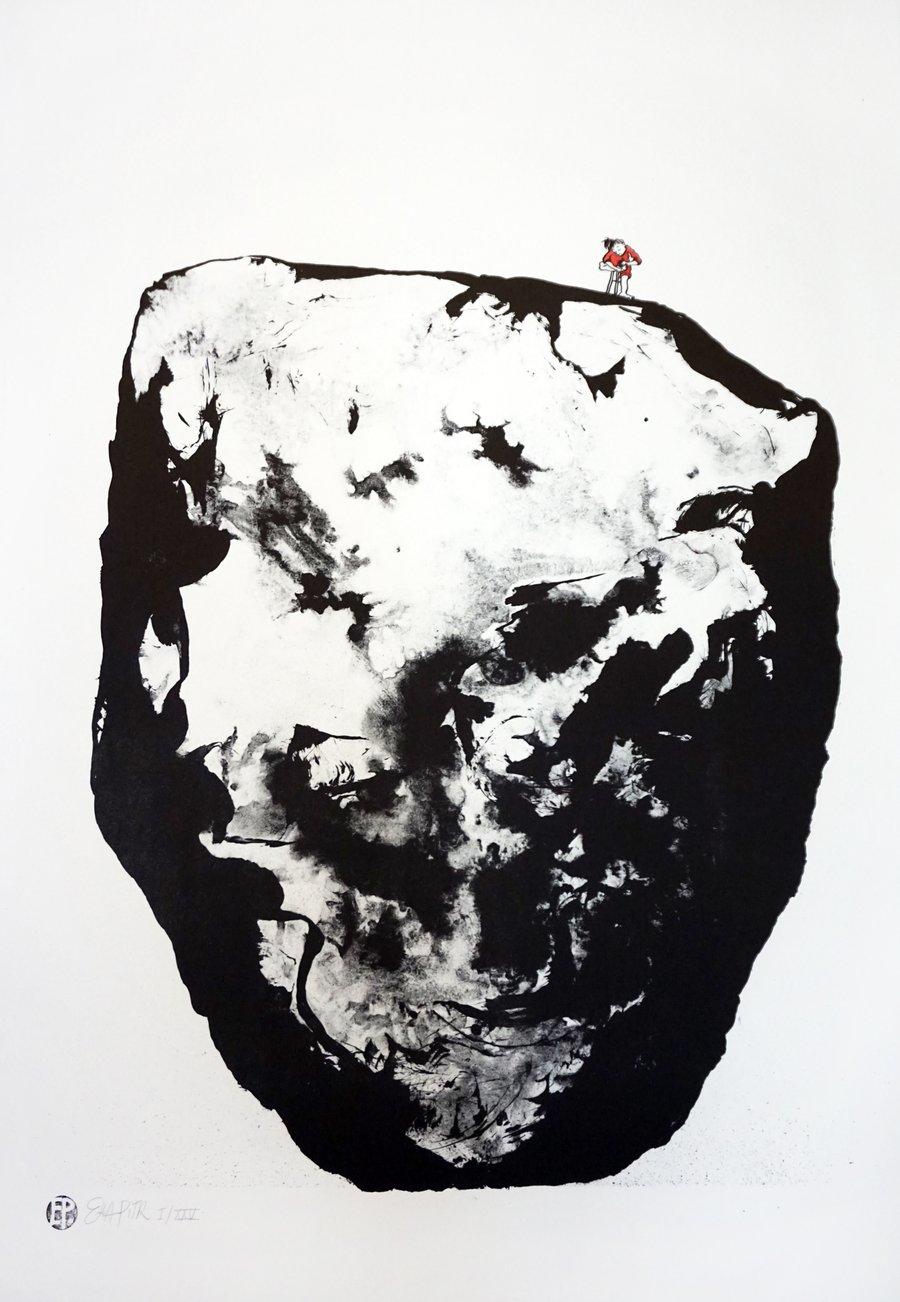Image of Lithographie de l'épine dans le pied.