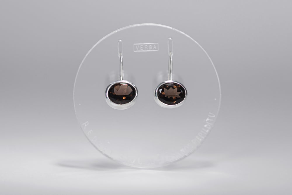 """Image of """"To see your wish granted"""" silver earrings with smoky quartz · VOTO POTIRI ·"""