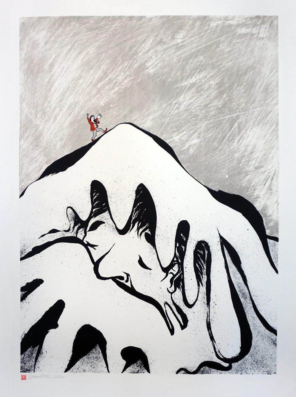 """Image of Lithographie """" La petite voix """"."""