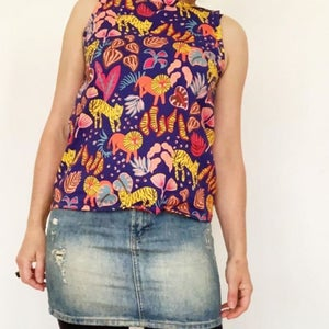 Sleeveless T Top - Choose your fabric