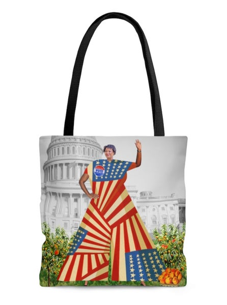 Image of Stacey Abrams tote bag