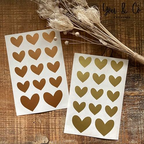 Image of Planche 14 stickers cœurs