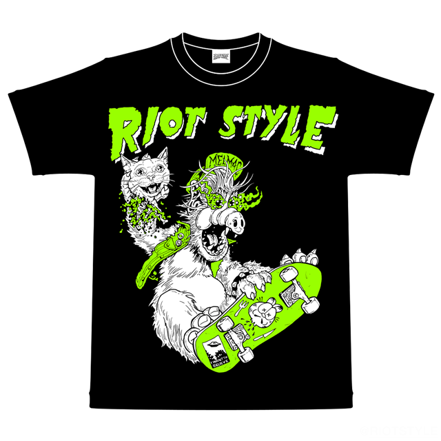 Image of Riot Style W.R.A.L.F. Skateboard T-Shirt (Black)