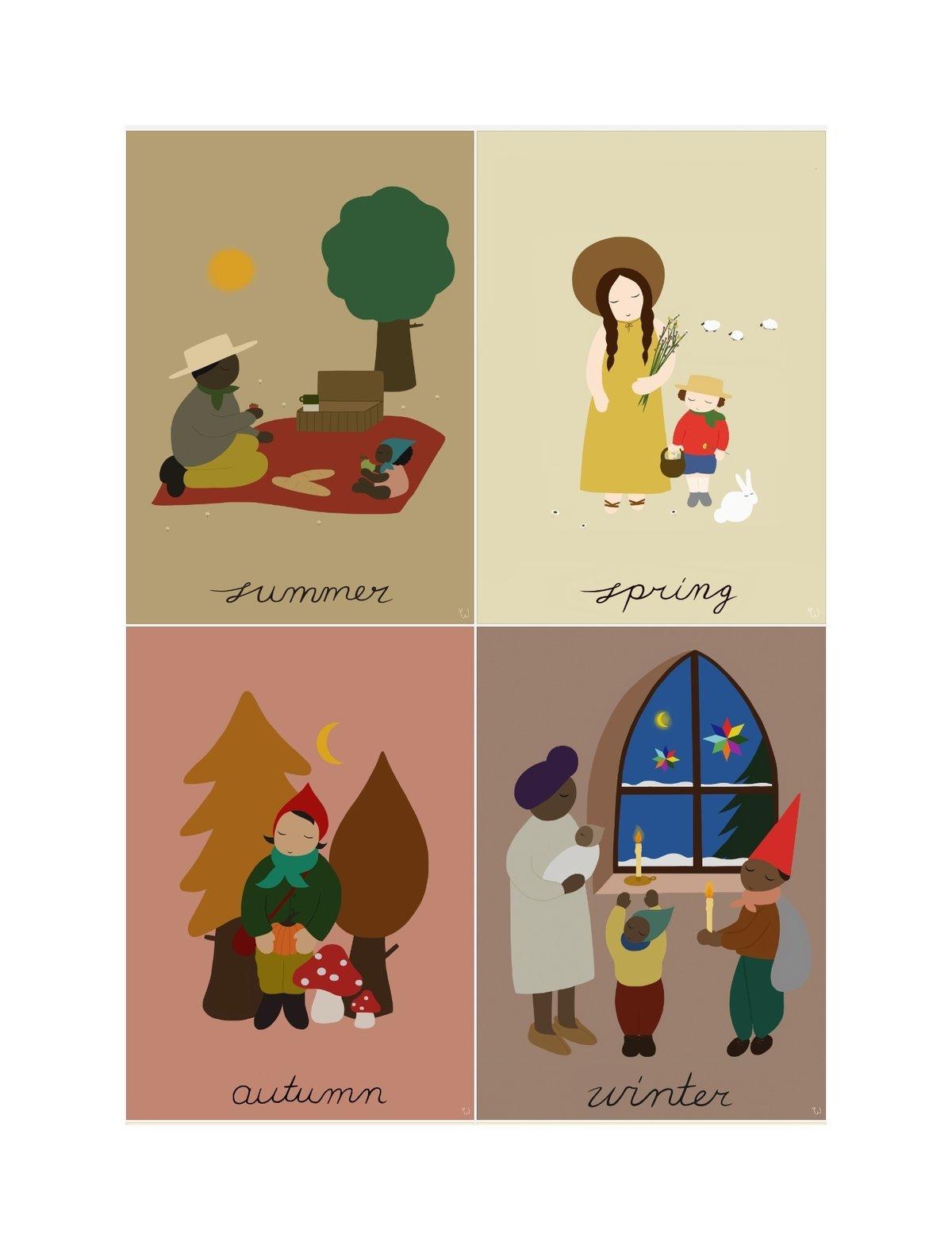 Image of Seasonal Prints (Set of four)