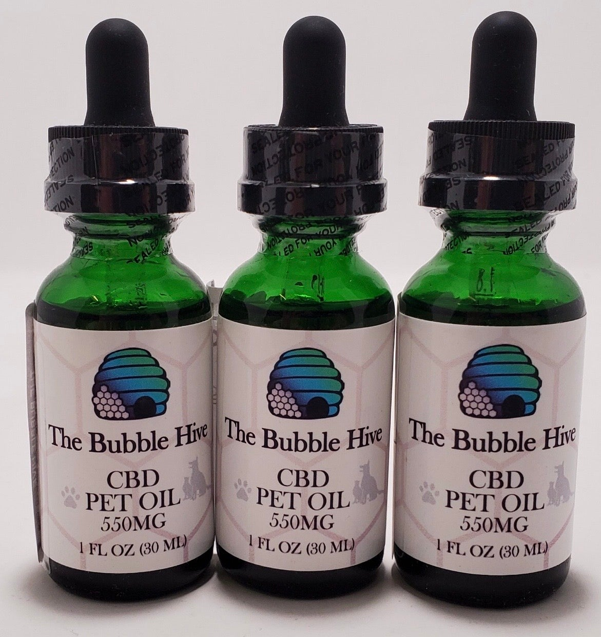 Image of 550 MG CBD Pet Oil Tincture Drops (1oz)