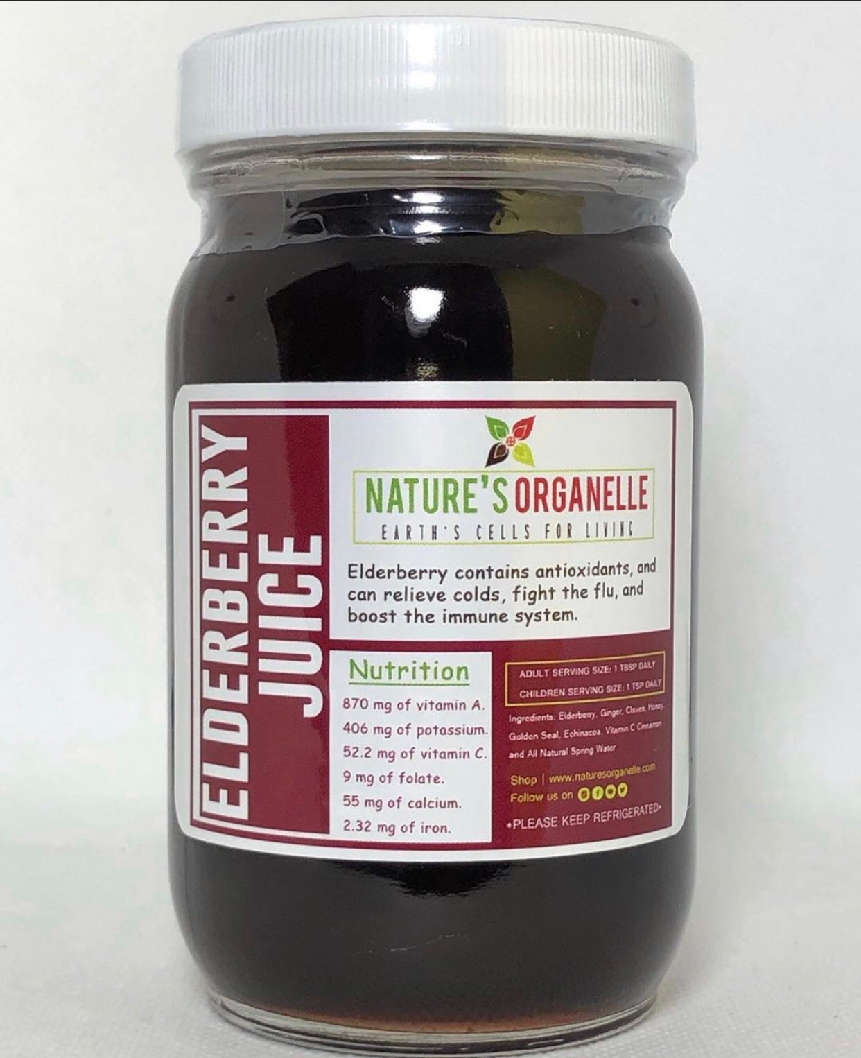 Image of 16oz Homemade Elderberry Juice (wholesale)