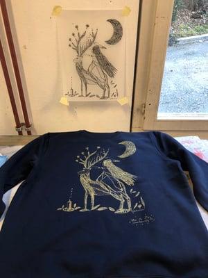Image of Sweat-shirt Bleu marine *My Forest*
