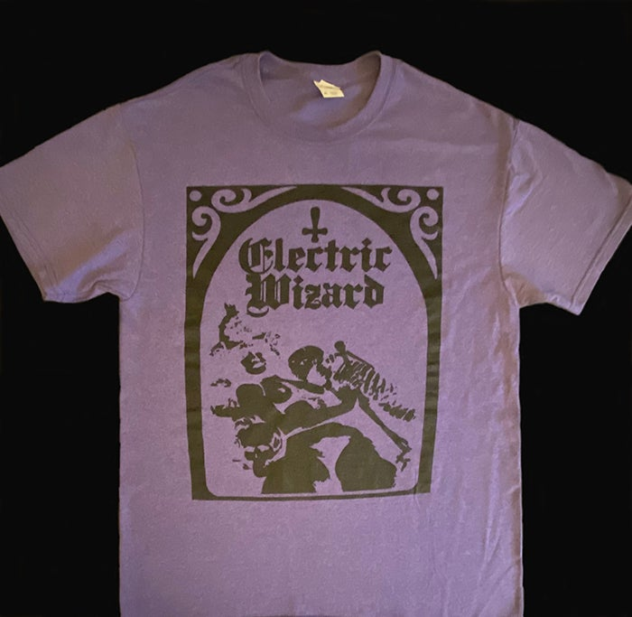 """Image of Electric Wizard """" Legalise Drugs and Murder """" Heather Purple T-shirt"""
