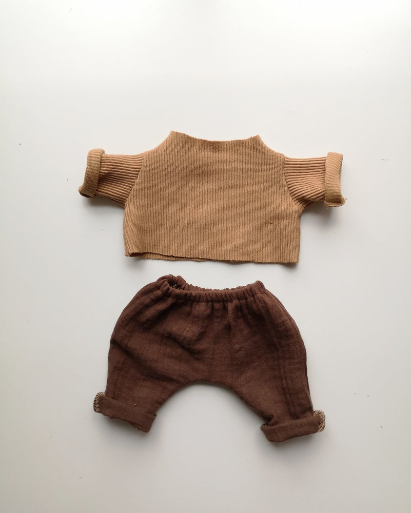 Image of Tenue pull camel + pantalon