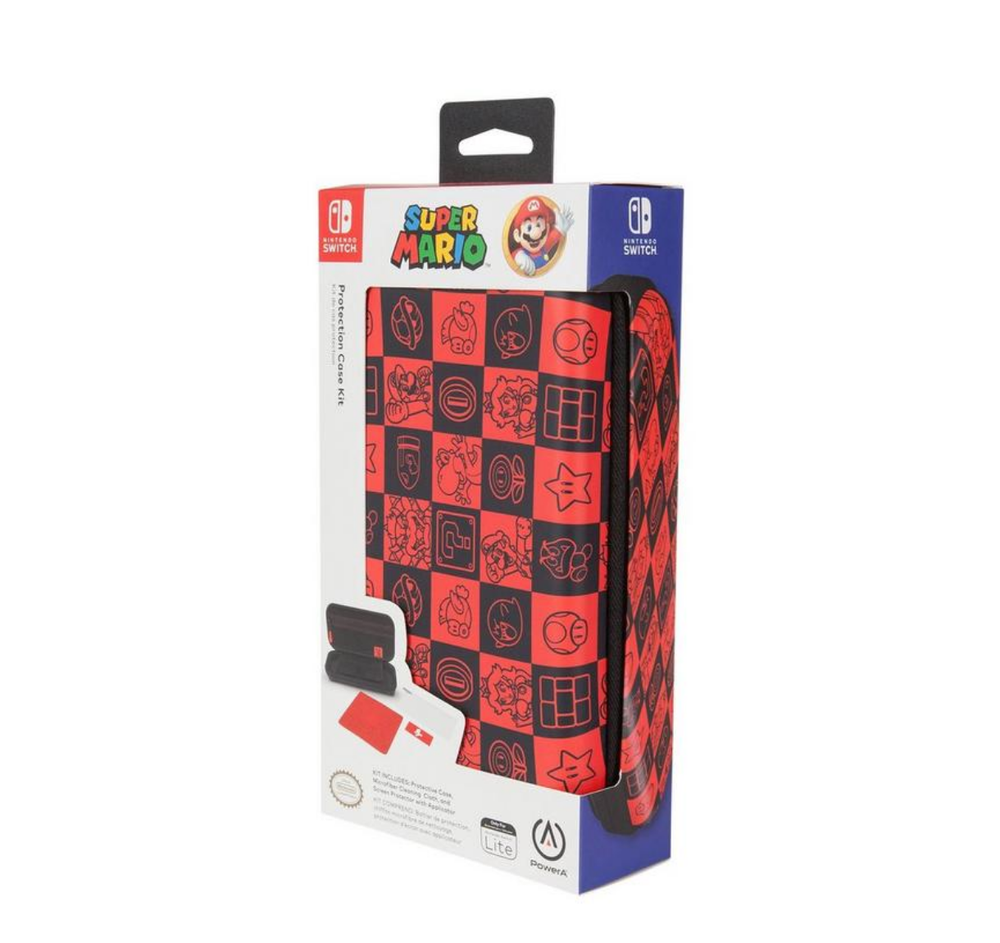 Image of Super Mario Bros. Checkerboard Protection Case Kit for Nintendo Switch Lite