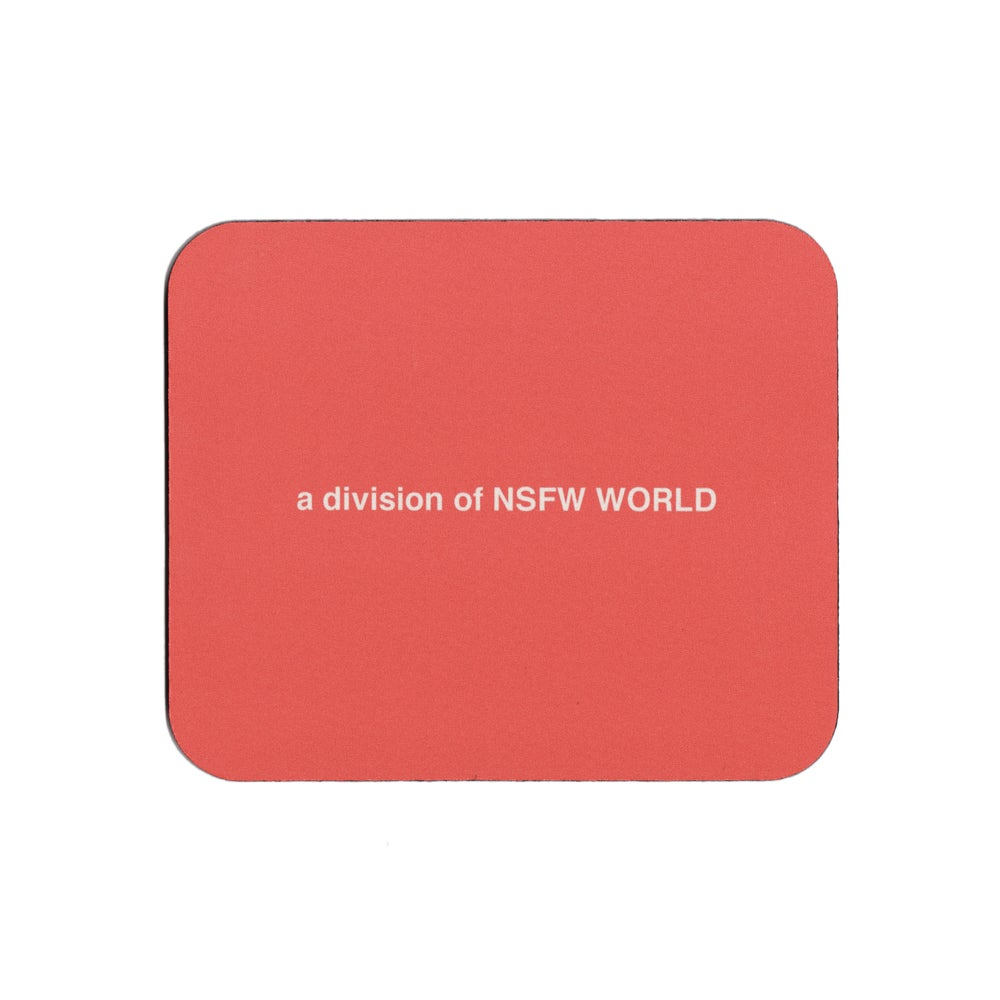 Image of NSFW WORLD MOUSE PAD - RED