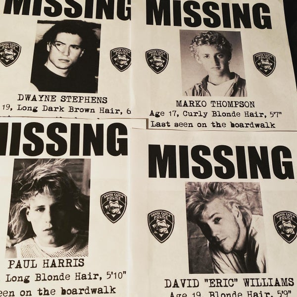 Image of The Lost Boys Missing Posters