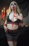Hellbent Bloodlust Chainmaille top and High Waisted Skirt